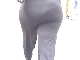 bbw milf in black dress pants