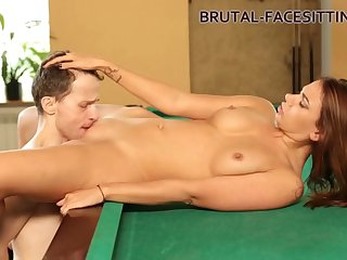 pool table facesitting femdom