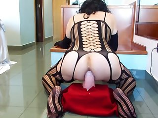 anal adventures of a whore wearing black bodystocking 22