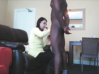 shameless busty wife in glasses sucks bbc very well