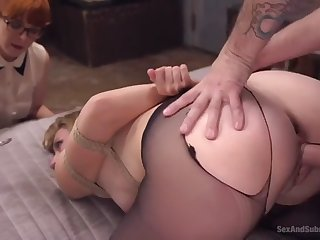 nerdy penny pax assists a odd cadger to have sexual intercourse bondaged mona wales